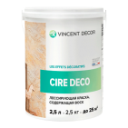 Краска лессирующая Cire Deco base Metallisee 3DPerle для внутренних работ (Vincent Decor)