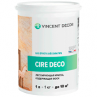 Краска лессирующая Cire Deco base Metallisee Perle для внутренних работ (Vincent Decor)
